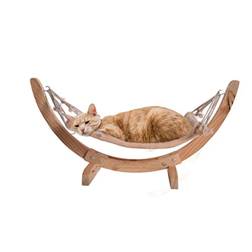 - Cat Bed, NXKang Wood Cat Hammock Soft Plush Cat Bed Small Dog Beds Attractive and Sturdy Perch Pet Sleeping Furniture for Rabbit Cat Kitten Puppy Indoor/Outdoor Sunshine - US Stock