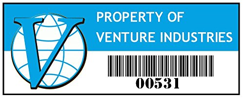 Asset Tag - Property of Venture Industries