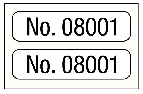Consecutive Number Label, 1'' x 1/4''
