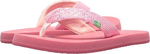 Price comparison product image Sanuk Kids Girls' Yoga Glitter Flip-Flop, Paradise Pink, 4/5 M US Big Kid