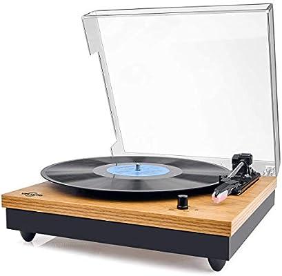 Tocadiscos, VIFLYKOO Tocadiscos Bluetooth para Discos de Vinilo ...