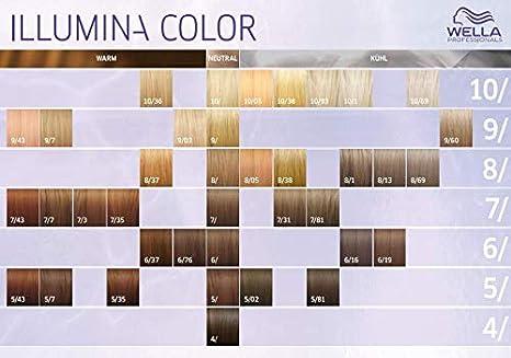 Wella Illumina Color 9/7 - Tinte (60 ml), color rubio claro y marrón