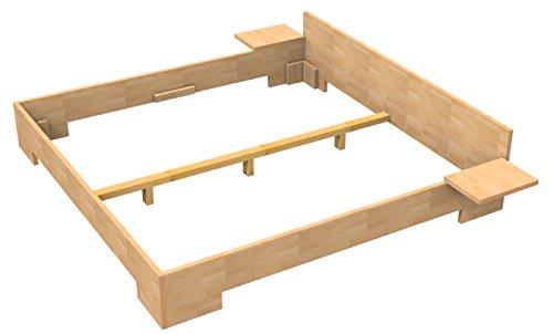 Bassner Holzbau 27mm Echtholzbett Massivholzbett Buche 200x200 Fuss Ii