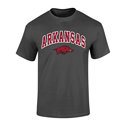 Arkansas Razorbacks Arch - Elite Fan Shop Arkansas Razorbacks Tshirt Heather Arch Gray - L - Heather Gray