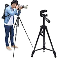 Lukzer Tripod 48 inch with 3 Dimensional Head for Camera & Bag Lightweight DSLR Phone Stand Photography Accessories
