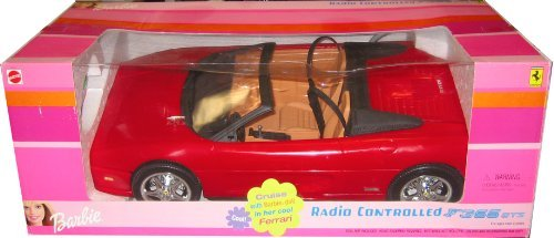 Barbie RC FERRARI F355 GTS Radio Controlled Red Car R/C Convertible Vehicle with Working HEADLIGHTS! (2000) (De Radio Barbie)