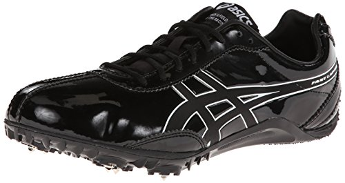 Asics Mens Fast Lap Md Track Scarpa Nero / Onice / Bianco