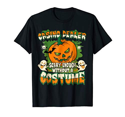 Funny and Scary Casino Dealer T Shirt Halloween Costume Gift