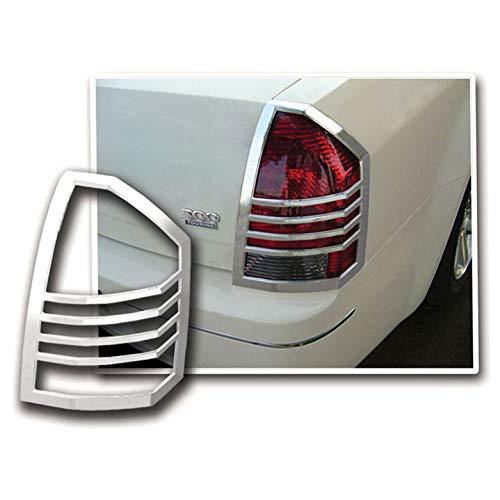 Tail Light Bezels for 2005-2007 Chrysler 300/300C [Chrome] Premium FX ()