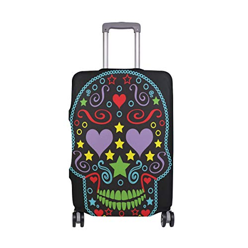 GIOVANIOR Sugar Skull Luggage Cover Suitcase Protector Carry On Covers