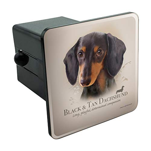 - Black and Tan Dachshund Wiener Dog Breed Tow Trailer Hitch Cover Plug Insert 2