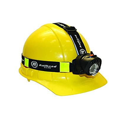 Railhead Gear 250 Lumen Focus Control, Motion Activated LED Headlamp, IPX4 Rated, Battery Pack on Back of Head With Red LED, KE-HLFC185