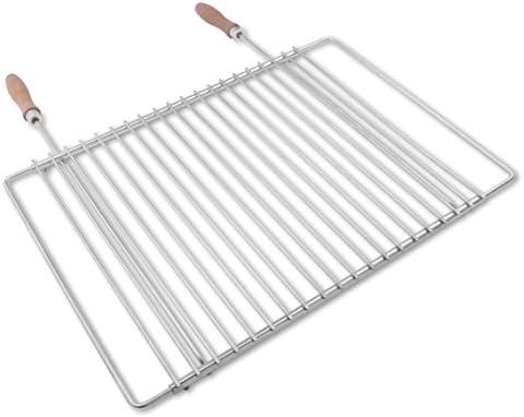 Grille de barbecue en inox européene, réglable en largeur, de 45-55x37cm, Grille Extensible