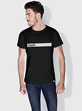 Creo Meh Funny T-Shirts For Men - Xl, Black