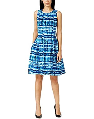 Calvin Klein Womens Printed Sleeveless Party Dress