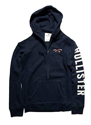 Hollister Women's Hoodie Sweatshirt (Navy Full Zip 1812, S) from Hollister