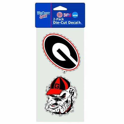 WinCraft NCAA Georgia Bulldogs 2-Piece Die Cut Decal, 4