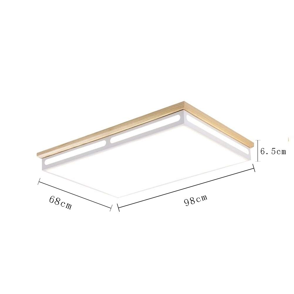 Cuican led 48w rectangle flush mount ceiling light modern ultra