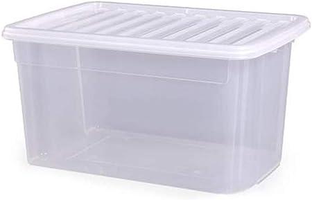 DCASA Contenedor de plástico Transparente con Tapa de plástico ...