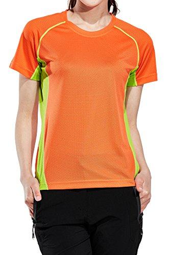 めるショート美しいMr.Streamレディース アウトドア スポーツ トレッキング登山吸汗速乾通気性UVカット半袖Tシャツ