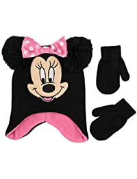 Girls' Toddler Minnie Mouse Character Hat and Mittens...