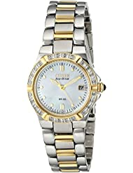 Citizen Womens EW0894-57D Eco-Drive Riva Diamond-Accented Watch