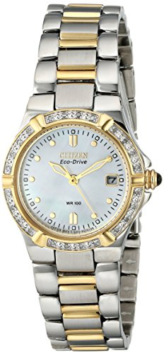 Citizen Women's EW0894-57D Eco-Drive Riva Diamond-Accented (Movement Two Tone Diamond)