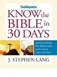 Know the Bible in 30 Days, J. Stephen Lang, 0824948068