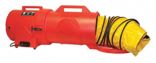 (Axial Portable Fan, 1 HP, 115VAC Voltage, 3350 rpm Blower/Fan Speed)