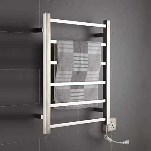 Onda Towel Warmer Stainless Steel Wall Mounted Heated 6 Bars 110-120V ()