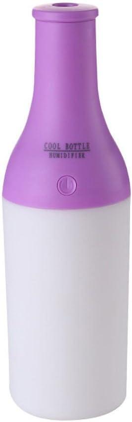 USB 水 ボトル ミニ加湿器 オフィス 空気 ディフューザー アロマ ミスト メーカー 4色選べる - パープル