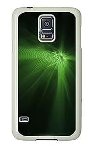 Samsung Galaxy S5 Green Abstract N004 PC Custom Samsung Galaxy S5 Case Cover White