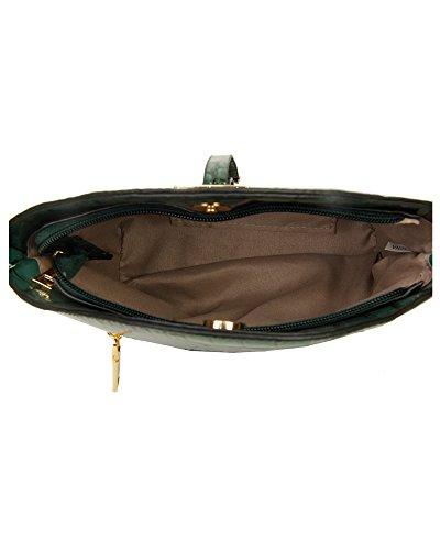 Patent New 23x21x10 Women's CM Messenger Leather Handbag Bag Print Small Crossbody Red Shiny Shoulder Croc Ladies Wine z41rUzq