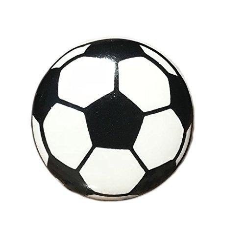 Soccer Ball Ceramic Round Drawer Pull, Cabinet Pull, Dresser (Ceramic Ball Cabinet Knob)