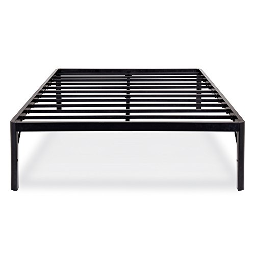 Olee Sleep 18inch Tall Round Edge Steel Slat Bed Frame S-3500 High Profile Platform Bed Frame, Queen
