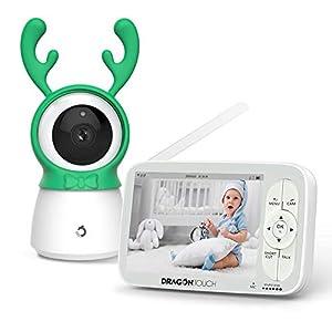 Moniteur Bébé,Dragon Touch Babyphone 5 pouces 720P HD Vidéo Caméra Surveillance Numérique,Zoom Pan-Tilt à Distance,VOX…