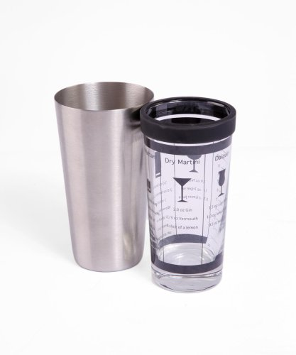 (Oenophilia Boston Shaker, Stainless Steel and Glass - 16 Ounce)