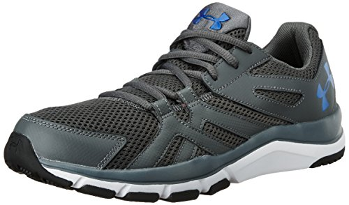 Under Armour Men's UA Strive 6 Rhino Grey, White and Ultra Blue...