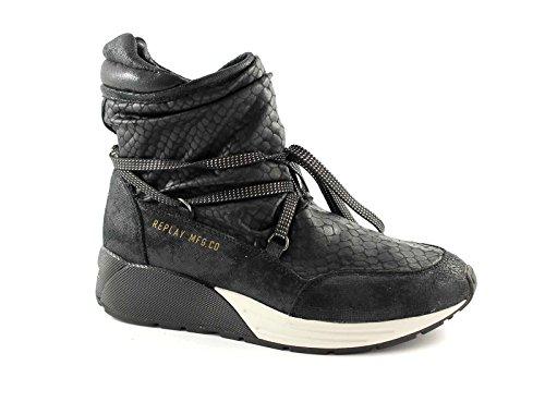 Botines negro REPLAY RS360001S STARLAW mediados de mujer zapatillas de deporte Nero
