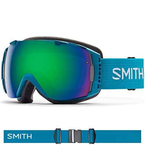 Smith Optics I/O Adult Interchangable Series Snocross Snowmobile Goggles Eyewear - Pacific/Green Sol X Mirror / - Pacific Eyewear