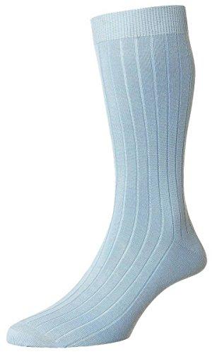 Pantherella Sea Island Cotton - Light Blue Pembrey Sea Island Cotton Socks by Pantherella - Large