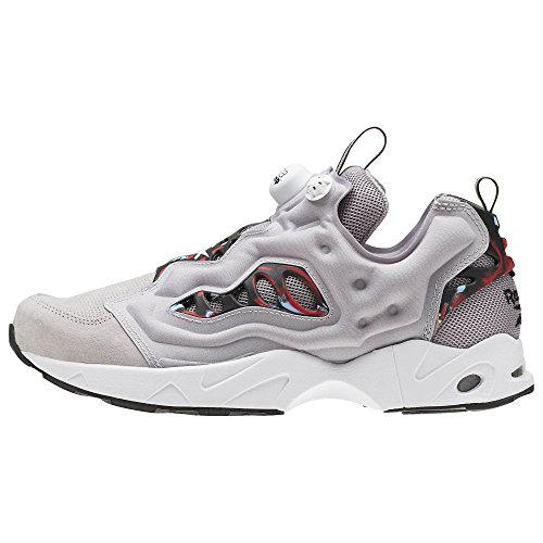 Reebok Fashion Grey Whisper Mens BD1612 Fury Road Instapump Red Sneakers I7nCqwr8Ix