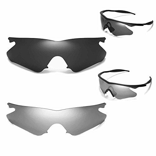 New Walleva Polarized Titanium + Black Lenses For Oakley M Frame Heater