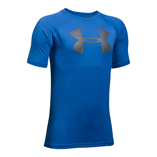 Under Armour Boys' Tech Big Logo T-Shirt, Ultra Blue /Graphite, Youth Large