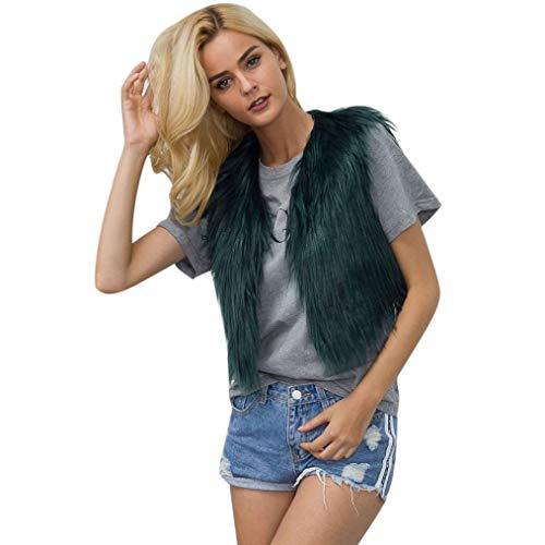 Pandaie Jacket,Women Faux Fur Ladies Sleeveless Vest Waistcoat Jacket Gilet Shrug Coat Outwear by Pandaie