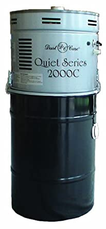 Dust Care DCC-2000C Quiet Series Central Vacuum System, 12 Gallon Capacity, 3HP, 15 Amp, 120V, 86 CFM Airflow