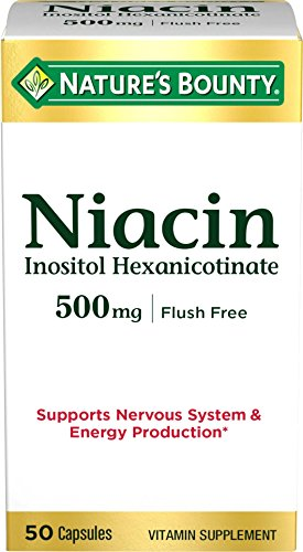 Nature's Bounty Niacin Pills and Supplement, Supports Nervous System and Energy Production, 500mg, 50 Capsules Review