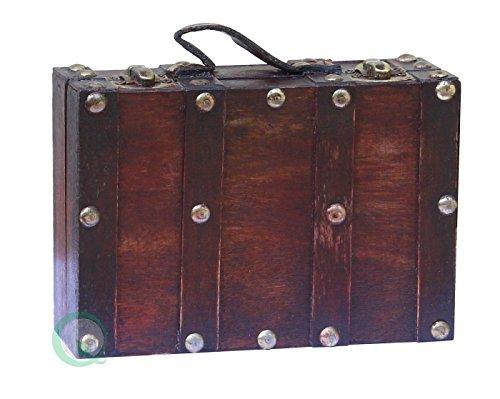 Vintiquewise(TM) Antique Style Suitcase/Decorative Box, Small/Mini (Mini Suitcase)