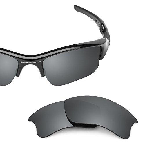 Revant Polarized Replacement Lenses for Oakley Flak Jacket XLJ Black Chrome MirrorShield (Flak Jacket Xlj-oakley)