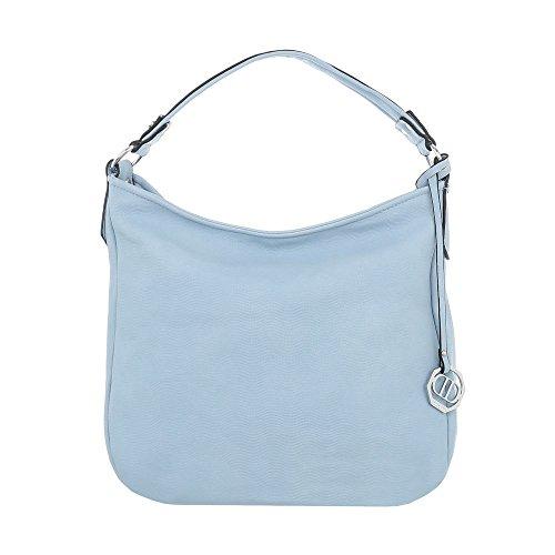 Ital-Design , Sac pour femme à porter à l'épaule Bleu Clair